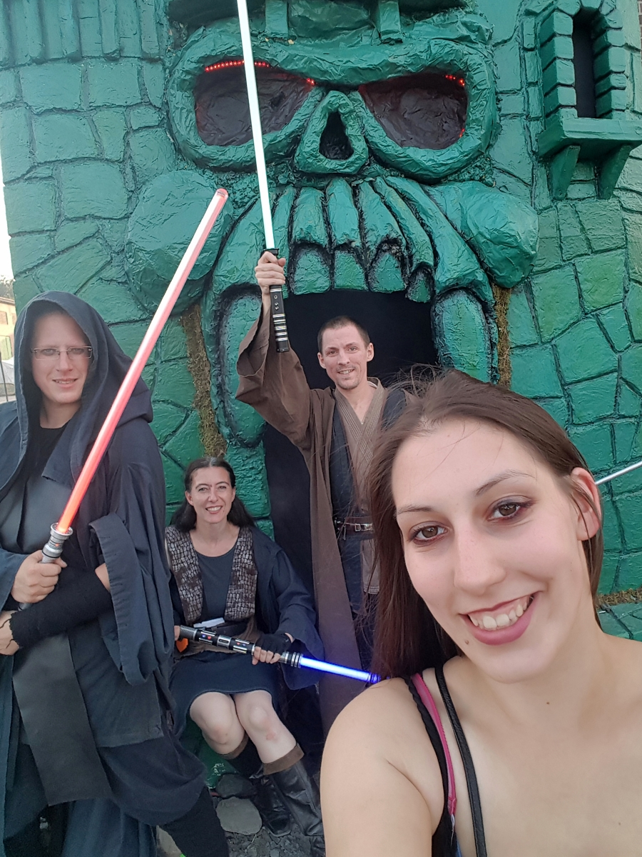 das Lightwars Team bei Castle Grayskull
